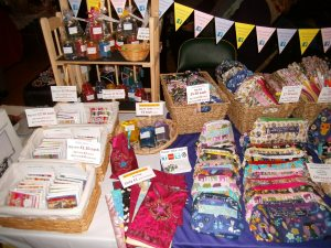 Our beautiful handmade crafts at the Valentine's Flamingo Craft Fayre, Wanstead