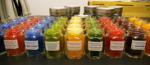 30.08.13 New HEXAGONAL JAR CANDLES all labelled ready