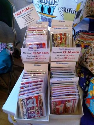 Textile Greetings cards