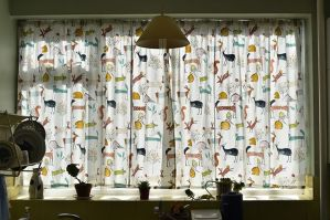 Curtains up in Tims Kitchen! (4)